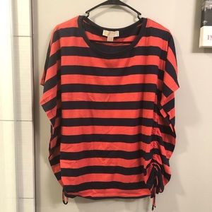 MK red and blue striped shirt